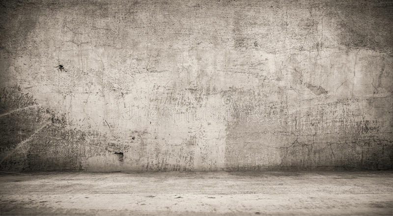Интерьер Grunge Шаблон студии стоковые фото