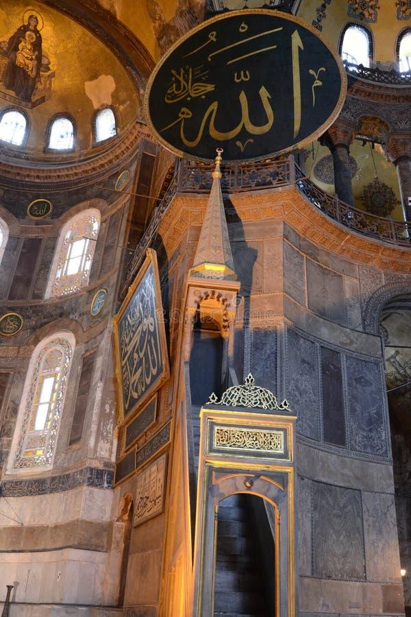 Интерьер Hagia Sophia на Стамбуле Турция - стоковые изображения rf