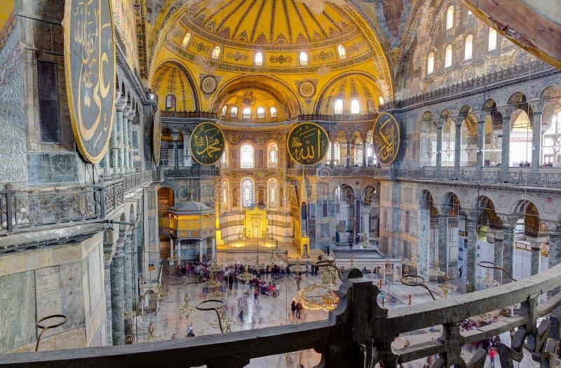 Интерьер Hagia Sophia, Стамбул, Турция стоковое фото