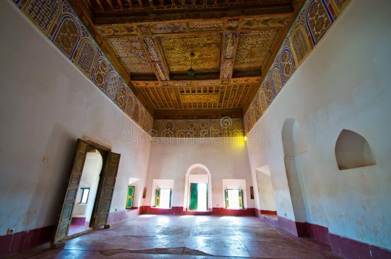 Интерьер kasbah в Ouarzazate, Марокко стоковое фото