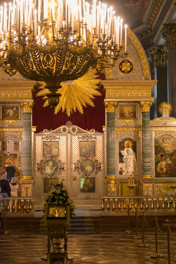 интерьер kazan собора стоковое фото rf