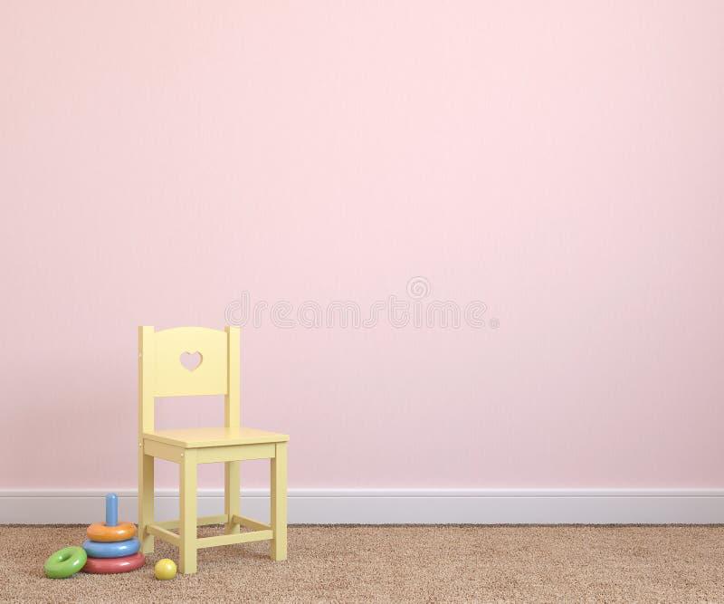 Интерьер playroom. иллюстрация штока