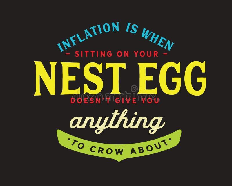 Инфляция когда сидеть на вашей заначке не дает вас что-нибудь кукарекать около иллюстрация штока