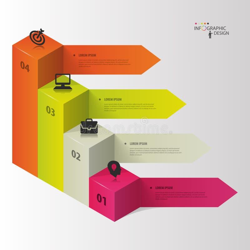 Инфографика Варианты шага дела также вектор иллюстрации притяжки corel бесплатная иллюстрация