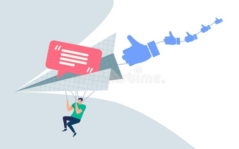 Информативный мультфильм hotkeys и сообщений знамени бесплатная иллюстрация