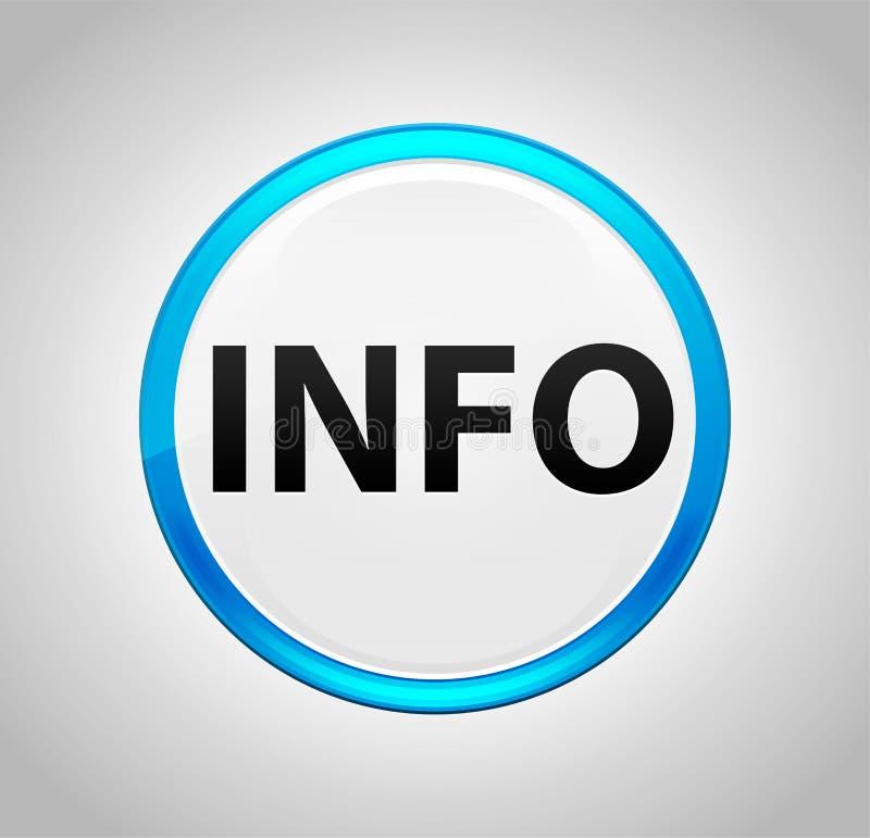 Информация вокруг голубой кнопки иллюстрация штока