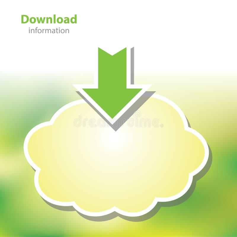 Информация всходит на борт - данные по загрузки - облака символа - пустого backgr бесплатная иллюстрация