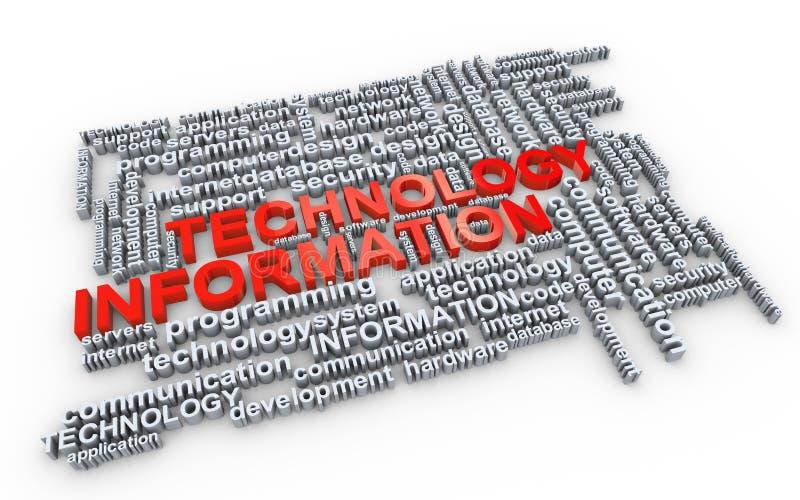 информация маркирует слово технологии бесплатная иллюстрация