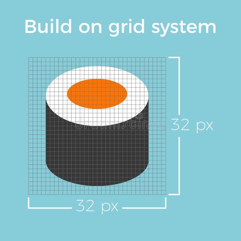 Информация о значке дизайна на сети электропередач для применения вебсайта и smartphone иллюстрация штока