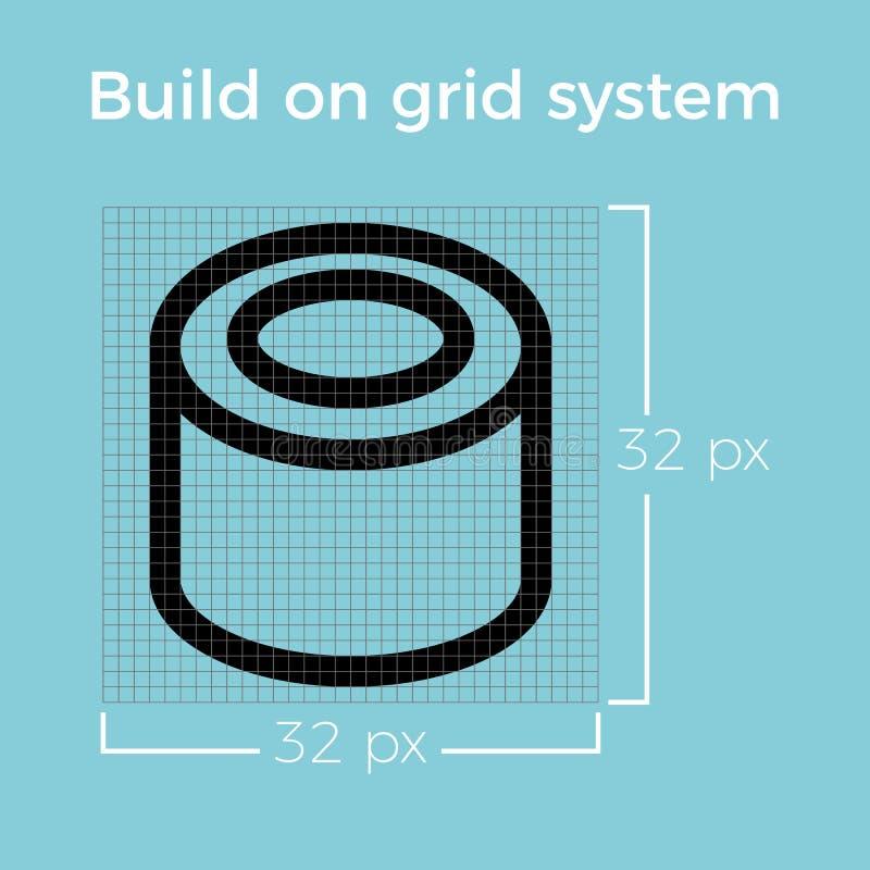 Информация о линии значке дизайна на сети электропередач иллюстрация штока