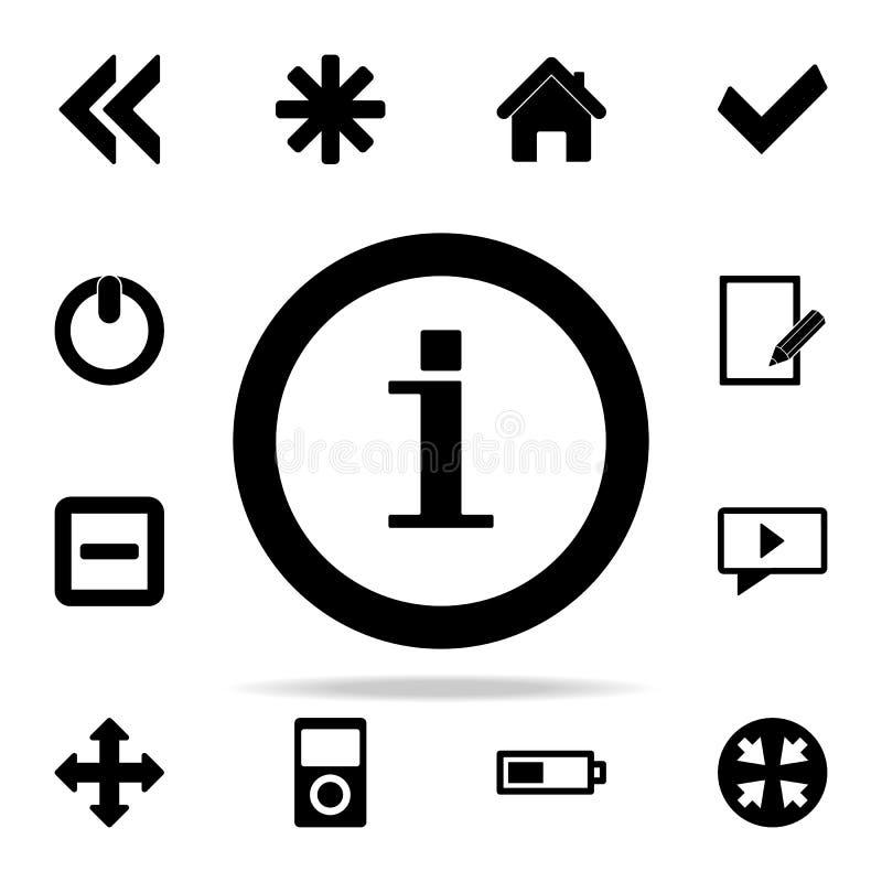информация подписывает внутри значок круга комплект значков сети всеобщий для сети и черни иллюстрация вектора