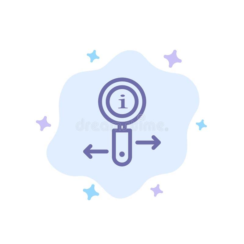 Информация, информация, сигнал, значок поиска голубой на абстрактной предпосылке облака иллюстрация вектора