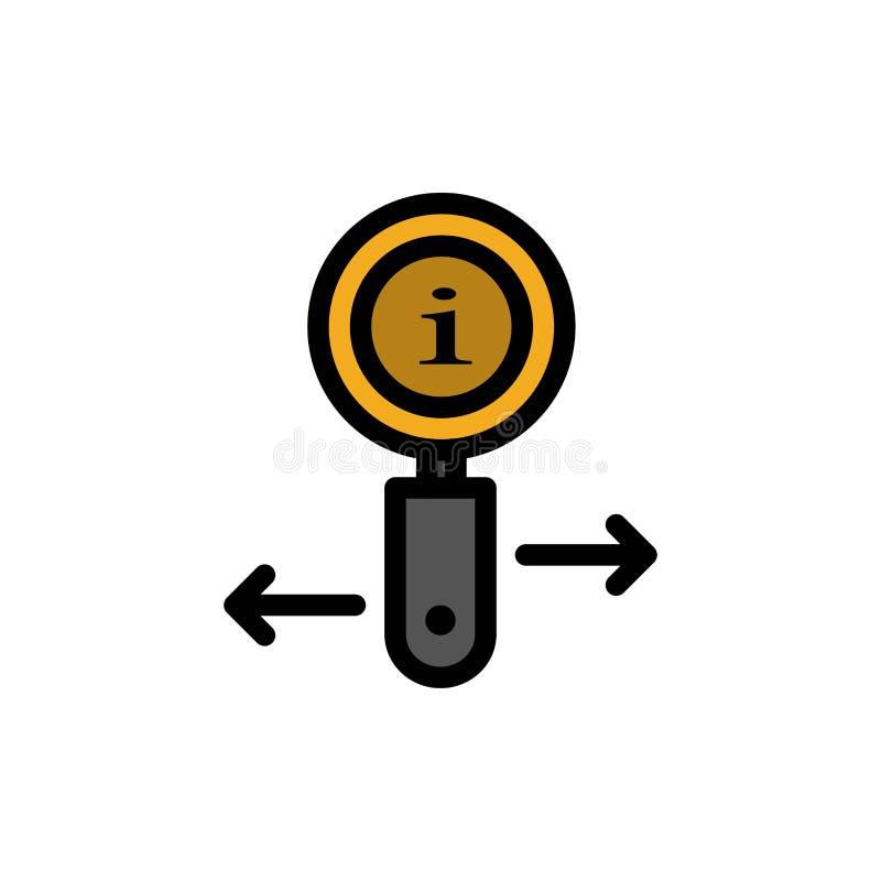 Информация, информация, сигнал, значок цвета поиска плоский Шаблон знамени значка вектора иллюстрация вектора