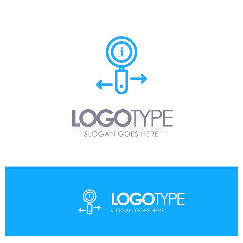 Информация, информация, сигнал, логотип плана поиска голубой с местом для слогана иллюстрация штока