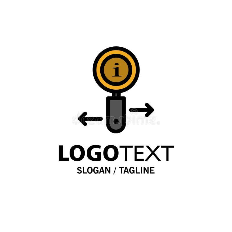 Информация, информация, сигнал, шаблон логотипа дела поиска r иллюстрация штока