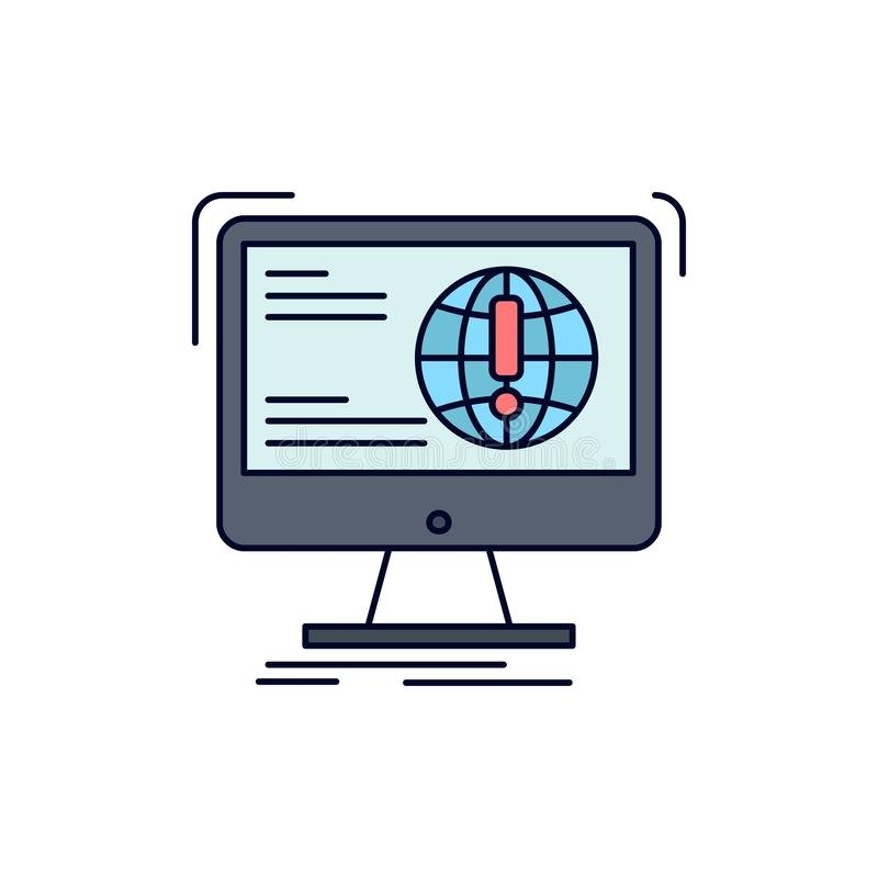 информация, содержание, развитие, вебсайт, вектор значка цвета сети плоский иллюстрация вектора