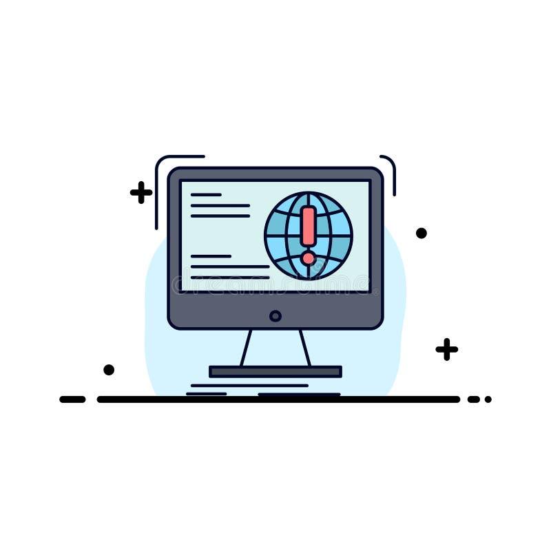 информация, содержание, развитие, вебсайт, вектор значка цвета сети плоский бесплатная иллюстрация