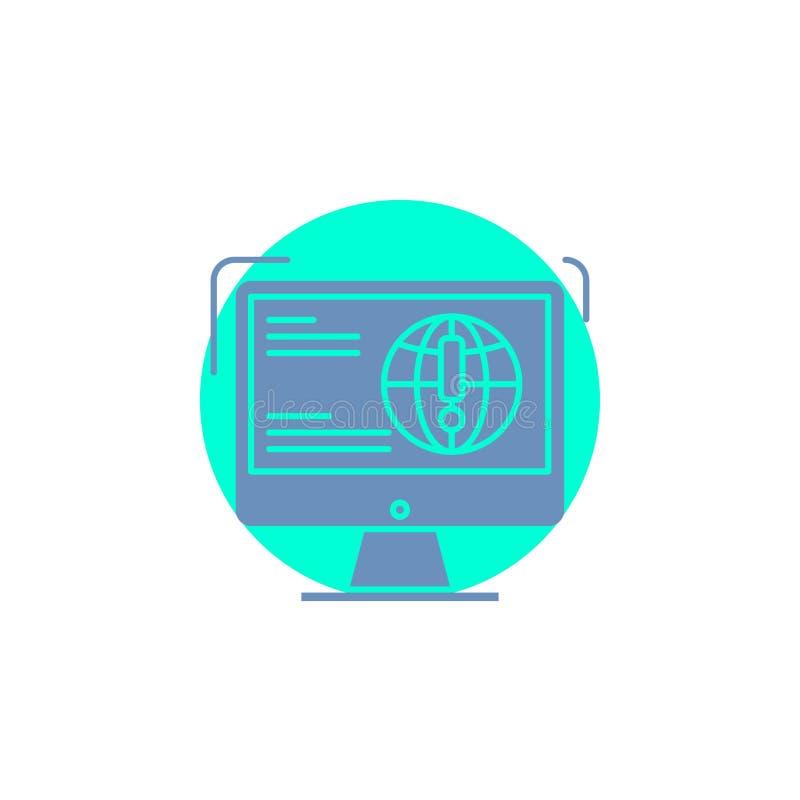 информация, содержание, развитие, вебсайт, значок глифа сети иллюстрация вектора