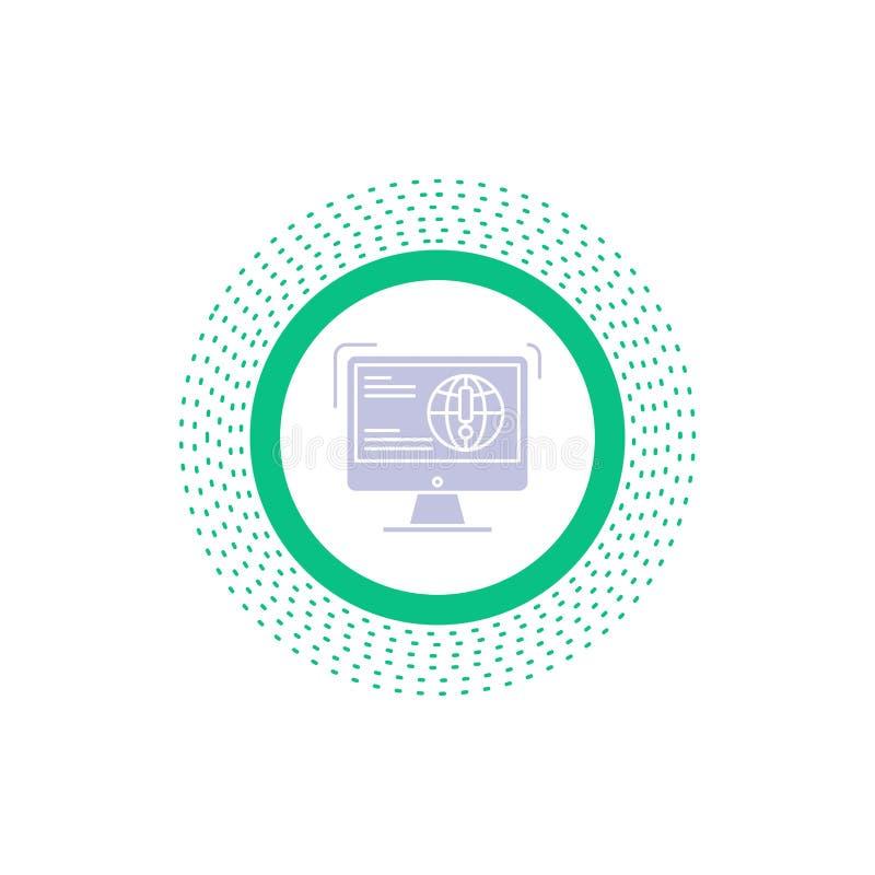 информация, содержание, развитие, вебсайт, значок глифа сети r иллюстрация вектора