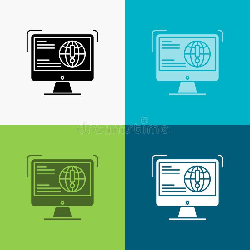 информация, содержание, развитие, вебсайт, значок сети над различной предпосылкой r 10 eps иллюстрация вектора