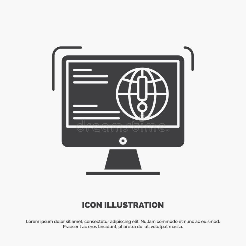 информация, содержание, развитие, вебсайт, значок сети r иллюстрация штока