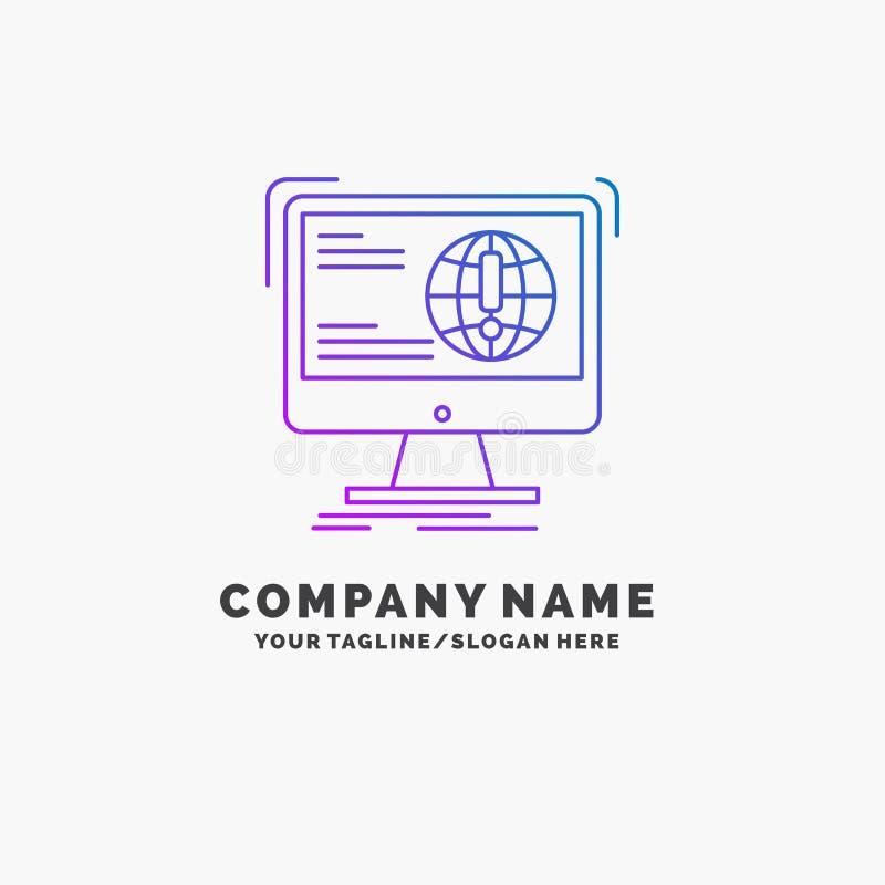 информация, содержание, развитие, вебсайт, шаблон логотипа дела сети пурпурный r бесплатная иллюстрация