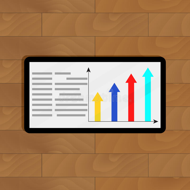 Информация с диаграммой стрелки роста бесплатная иллюстрация