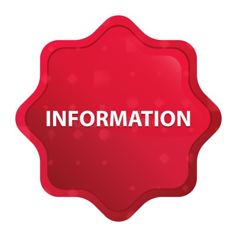 Информация туманная подняла красная кнопка стикера starburst иллюстрация вектора