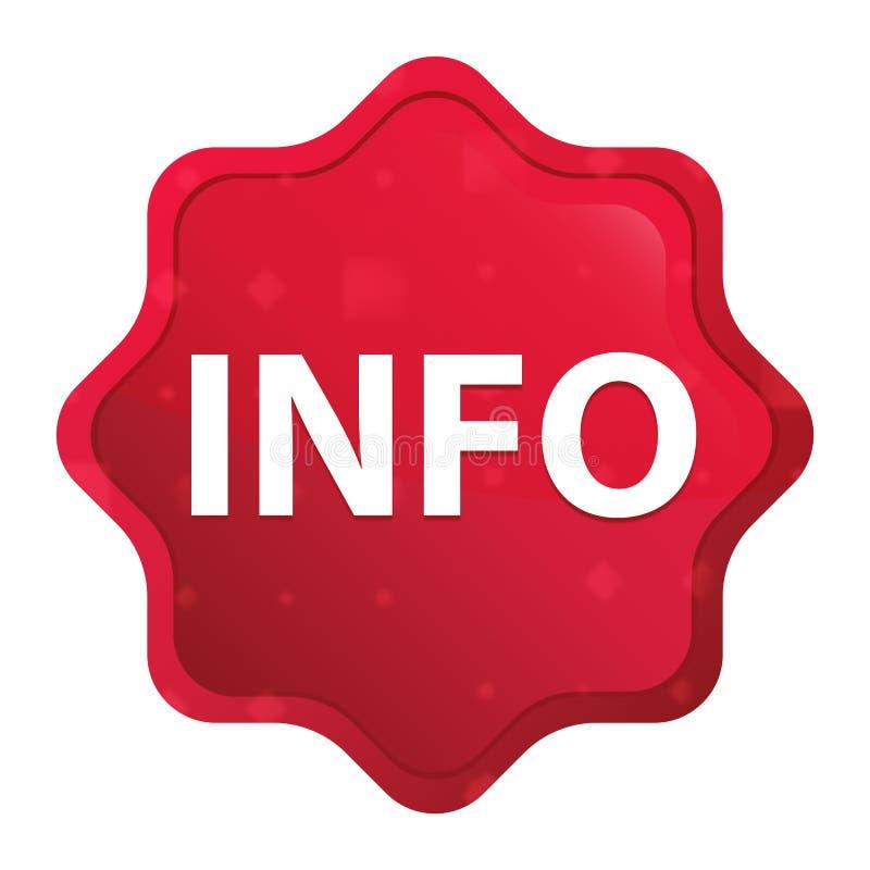 Информация туманная подняла красная кнопка стикера starburst бесплатная иллюстрация