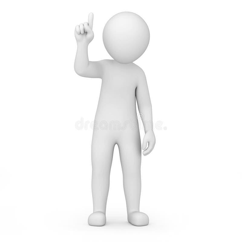 Информация! человек 3d указывает палец вверх иллюстрация штока