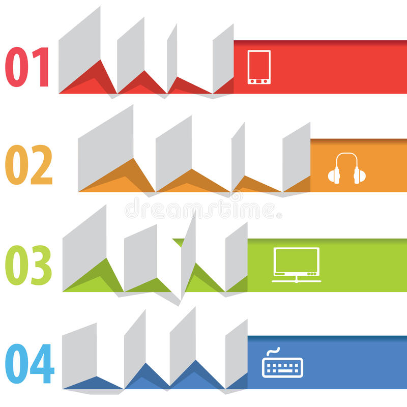 Информаци-график Origami бесплатная иллюстрация