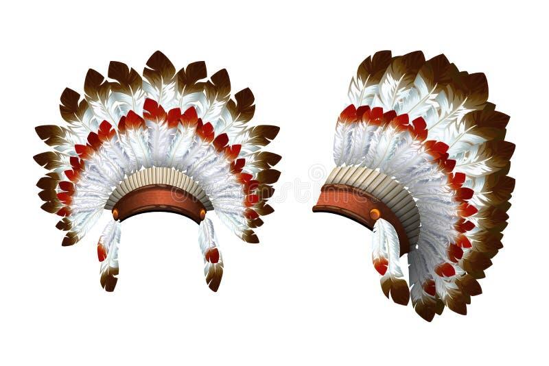 Индеец вектора bonnet войны иллюстрация штока