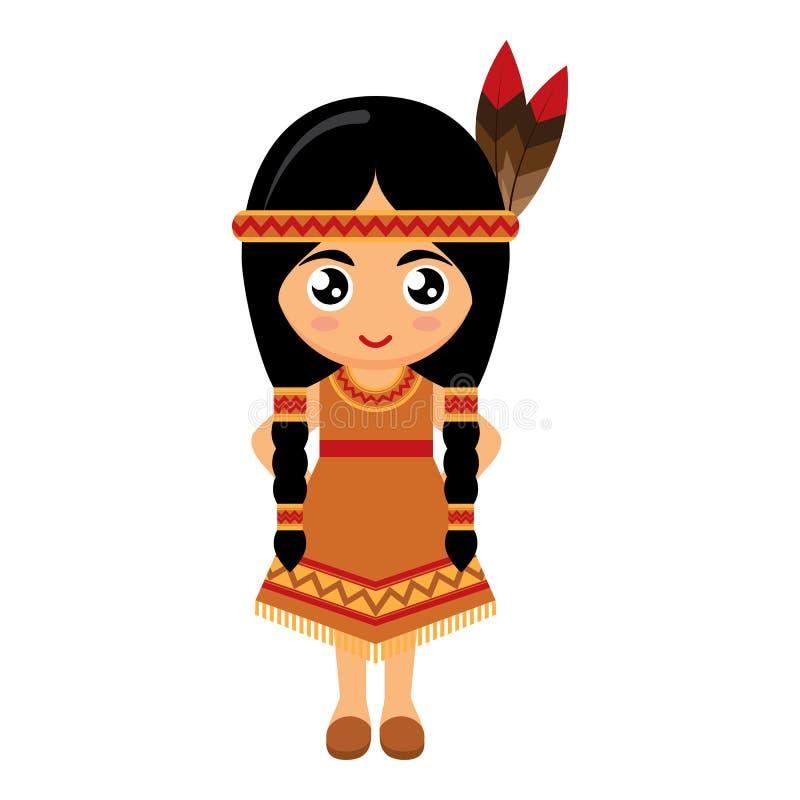 Индеец девушки американский стоковая фотография