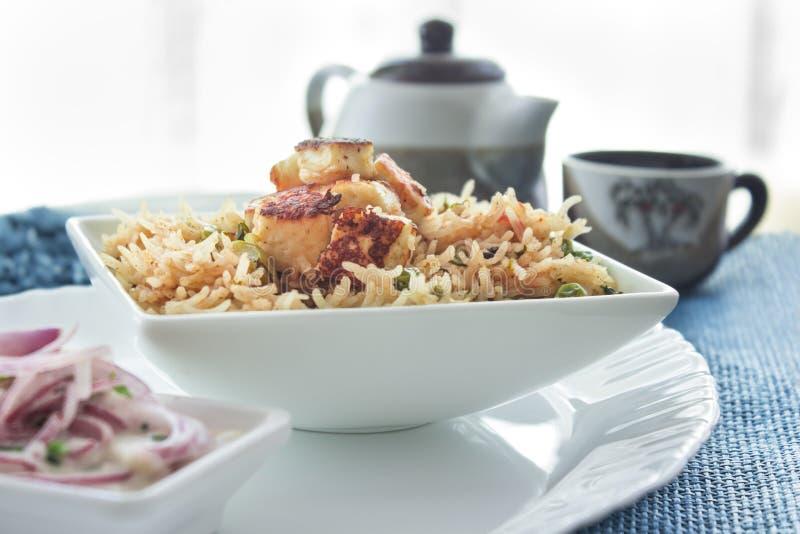 Индеец Pulao еды стоковое фото