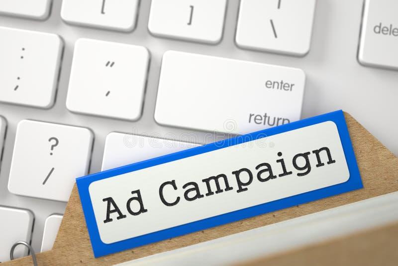 Индекс карточки с рекламной кампанией надписи 3d стоковое изображение rf