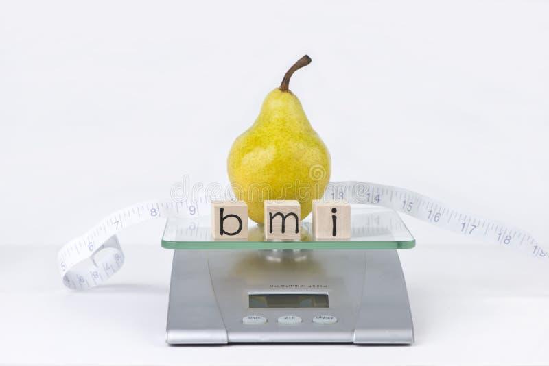 Индекс массы тела стоковое изображение rf