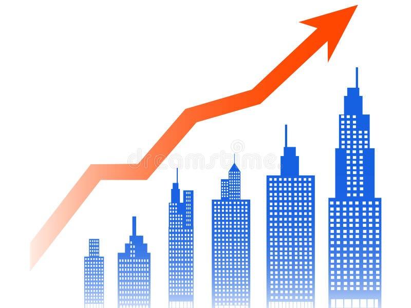Индекс недвижимости иллюстрация штока
