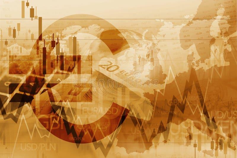 Индекс торговца евро торгуя бесплатная иллюстрация
