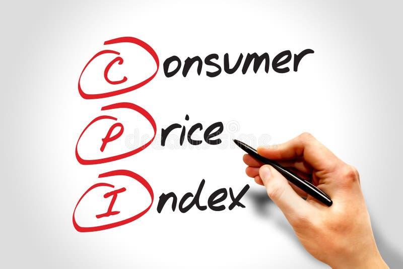Индекс цен на потребительские товары стоковые изображения