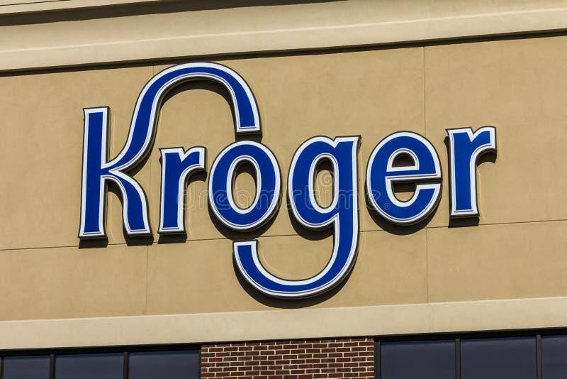 Индианаполис - около ноябрь 2016: Супермаркет Kroger Kroger Co один из розничных торговцев бакалеи мира самых больших IV стоковая фотография