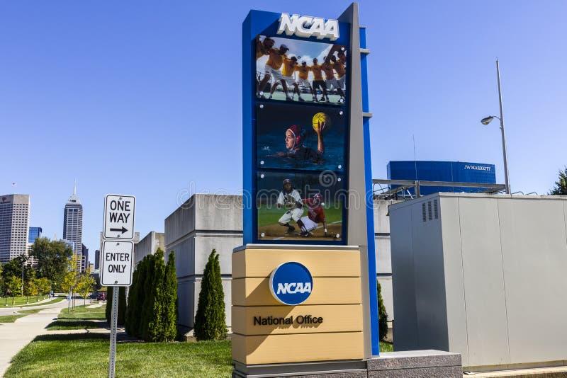 Индианаполис - около октябрь 2016: Национальные штабы коллигативной атлетической ассоциации NCAA регулирует атлетические программ стоковые изображения