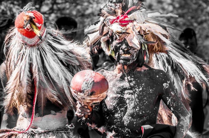 Индигенный Guarani ceremomy Парагвай стоковое изображение rf