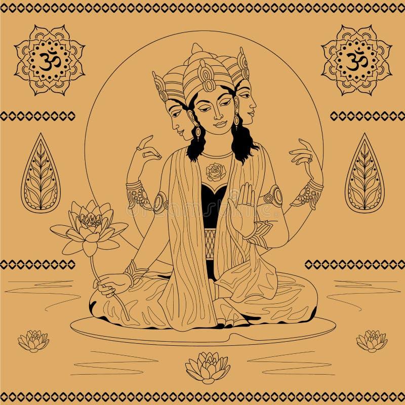 Индийская богина иллюстрация штока