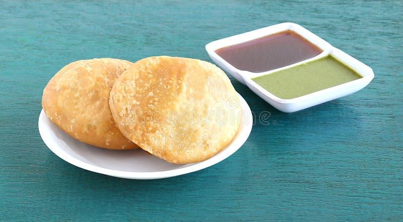 Индийская вегетарианская еда Kachori стоковая фотография