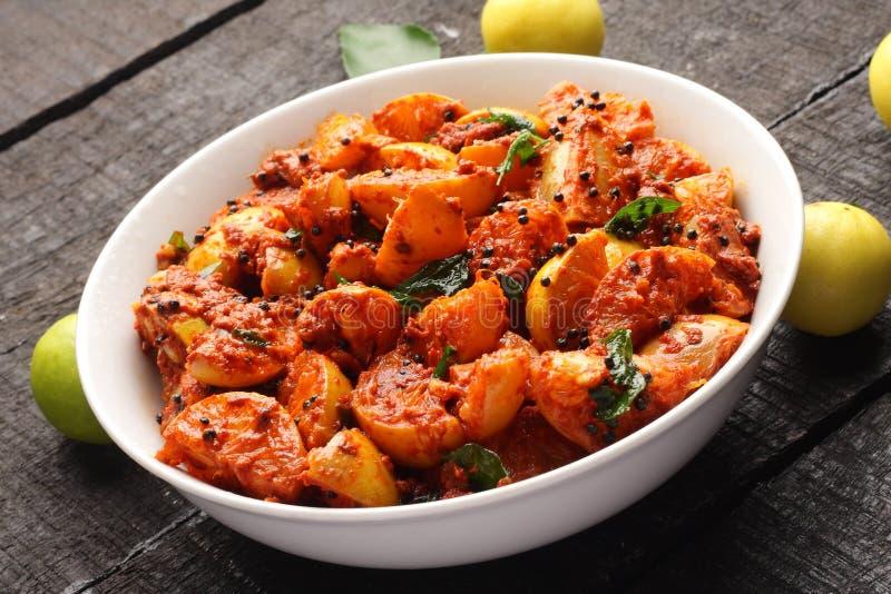 Индийская кухня-домодельная очень вкусная выбранная известка стоковые изображения rf