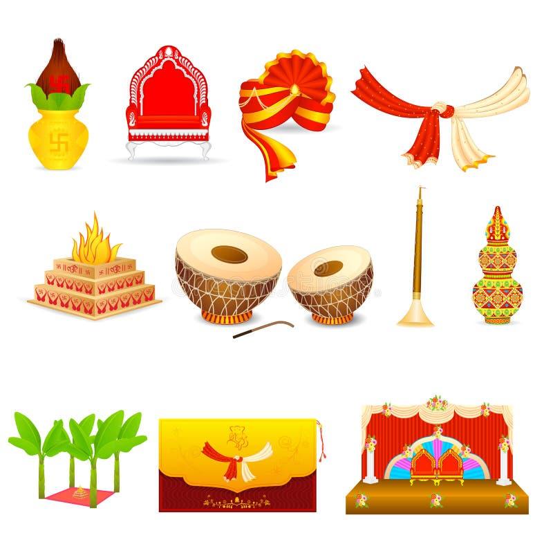 Индийская свадьба иллюстрация штока