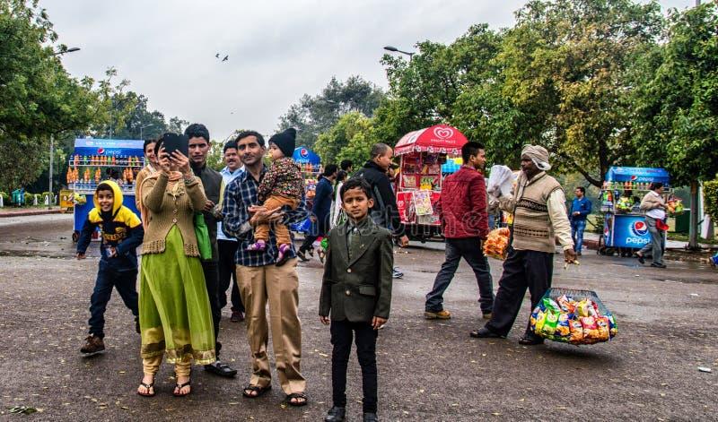 Индийская семья стоковые изображения rf