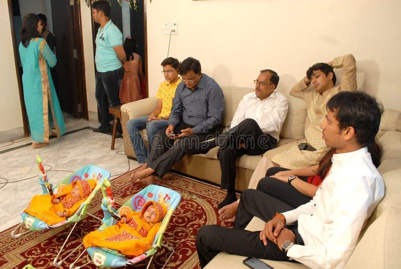 Индийская семья стоковое фото rf