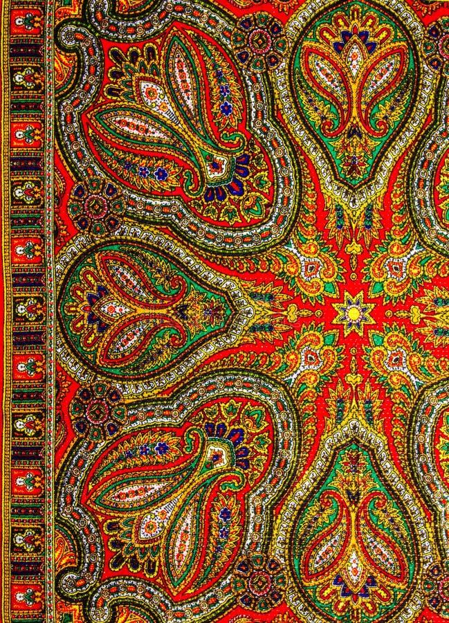 Индийская ткань картины стоковые фото
