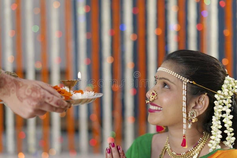 Индийские индусские ритуалы свадьбы стоковое изображение rf